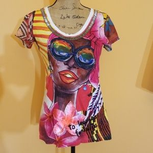 Desigual learn is more sunglasses lady shirt R329